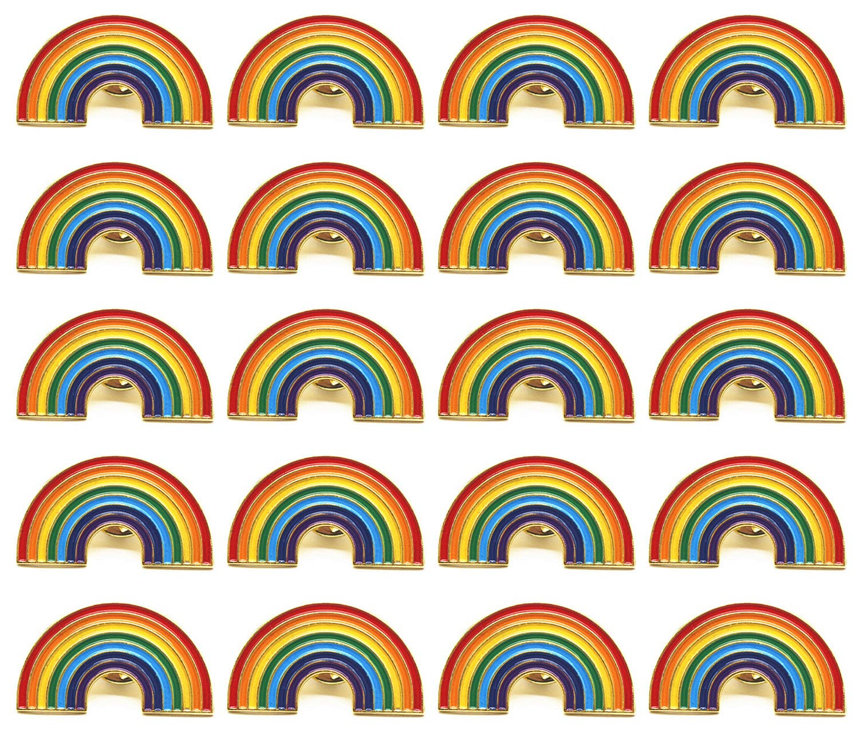 TANG SONG 20PCS Pride Pin Rainbow Gay Pride Flag LGBT Enamel Lapel Pin Pin Decoration for Clothes and Bags by TANG SONG