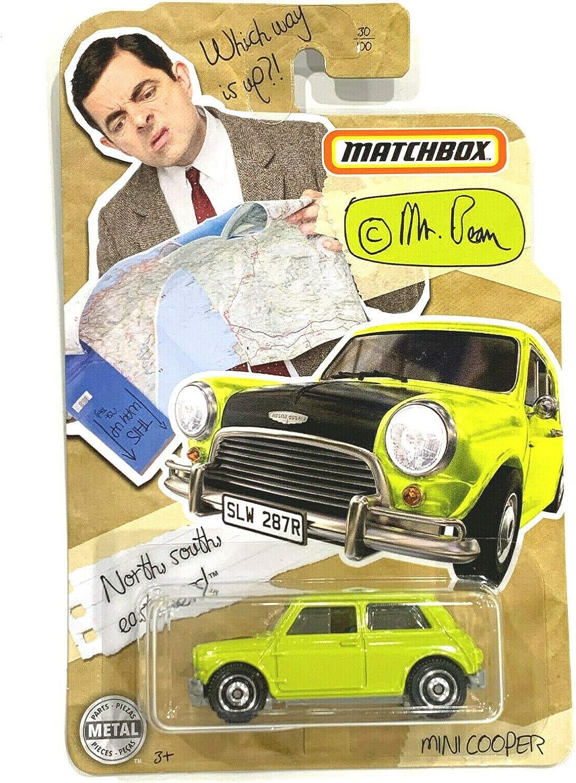 neon Yellow Matchbox 2020 Mr Bean Mini Cooper #30//100