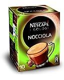 Nescafé Caffè Golosi Nocciola Preparato Solubile in Polvere al Caffè e Nocciola 10 Buste, 10 Tazze