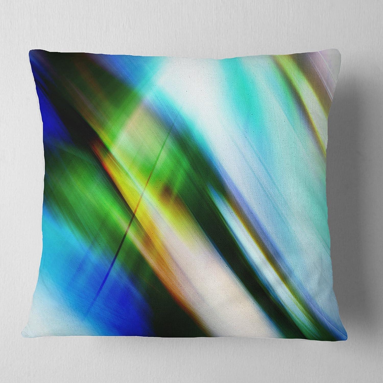 Designart CU8136-18-18 Rays of Speed Blue Green Throw Pillow 18 x 18