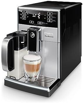 Saeco SM3061/10 - Cafetera (Independiente, Máquina espresso, 1,8 L, Granos de café, De café molido, Molinillo integrado, Negro, Plata): Amazon.es: Hogar