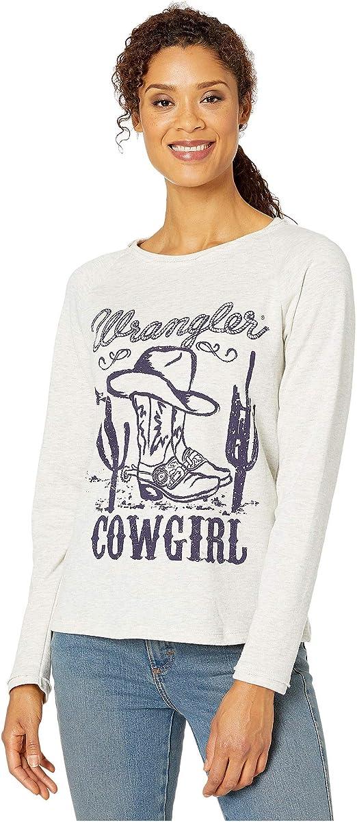 Wrangler Raglan Sweatshirt with Graphic Oatmeal XL: Amazon.es: Ropa y accesorios