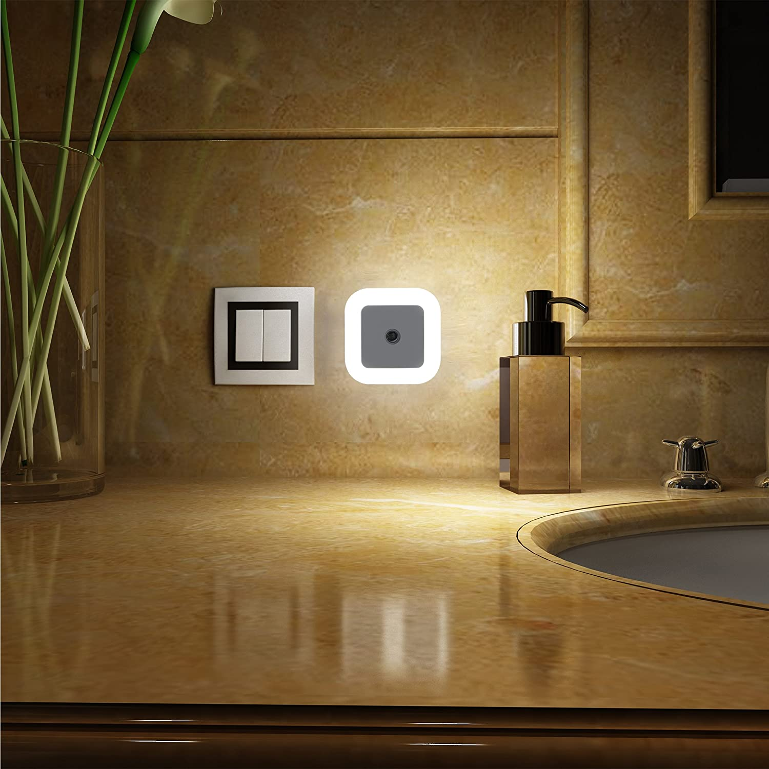 Soaiy Soft Brightness Plug In Led Night Light With Smart