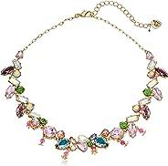 Betsey Johnson Collar de Piedras Mixtas, 40,6 cm + 8,9 cm