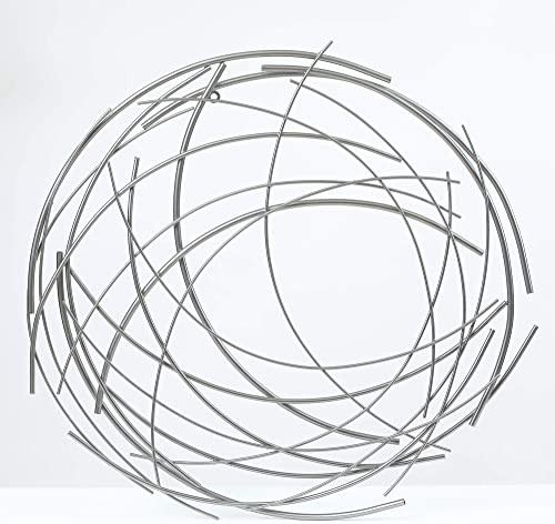 Winsome House Abstract Iron Sticks Round Wall Art