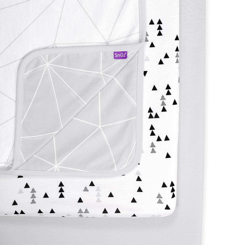 Snuz 3pc. Bedside Crib Bedding Set - Geo Mono Green Sheep Group LTD BD015AG