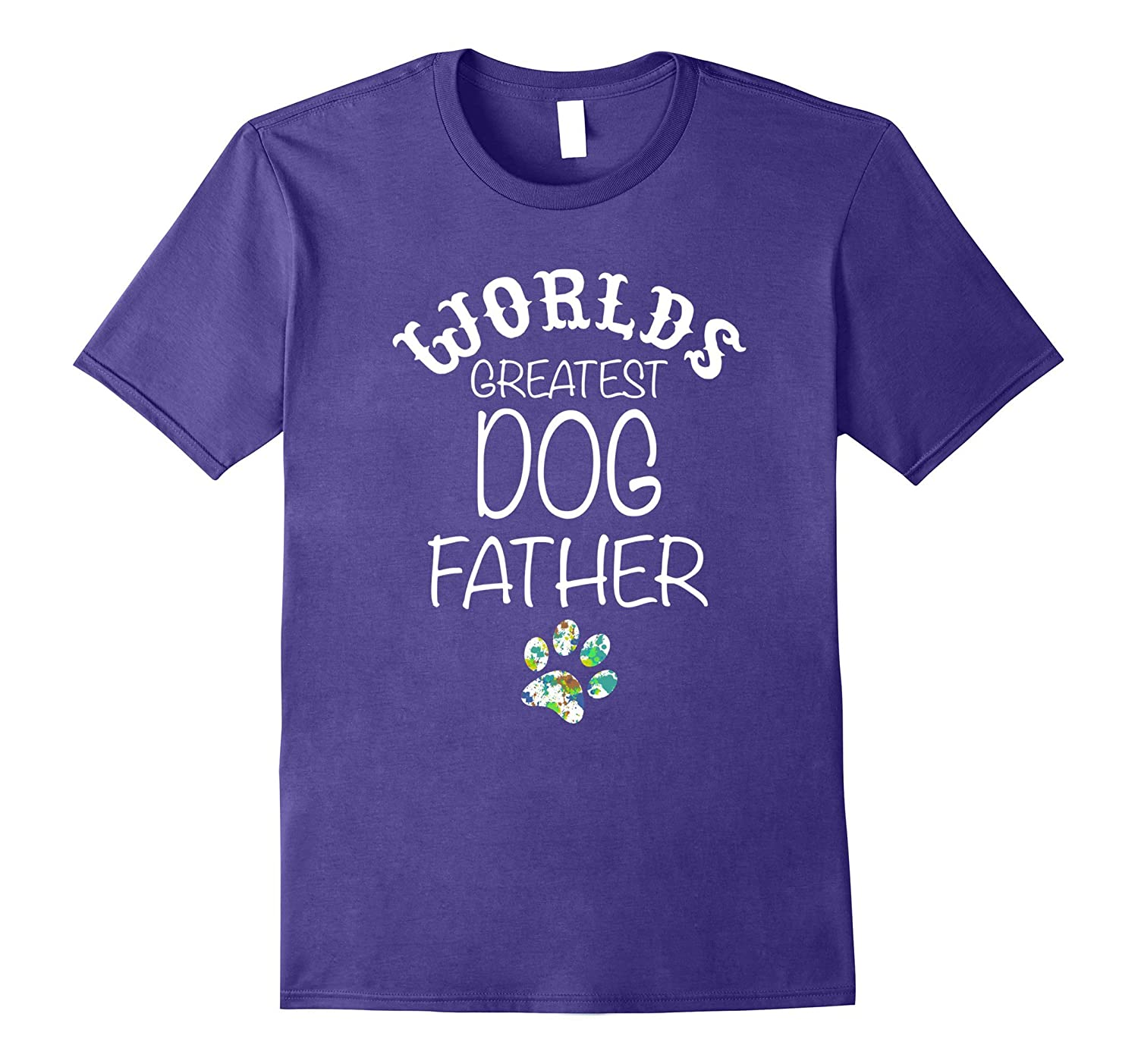 Worlds Greatest DOG Dad Graphic T Shirt Love my Dog-CD