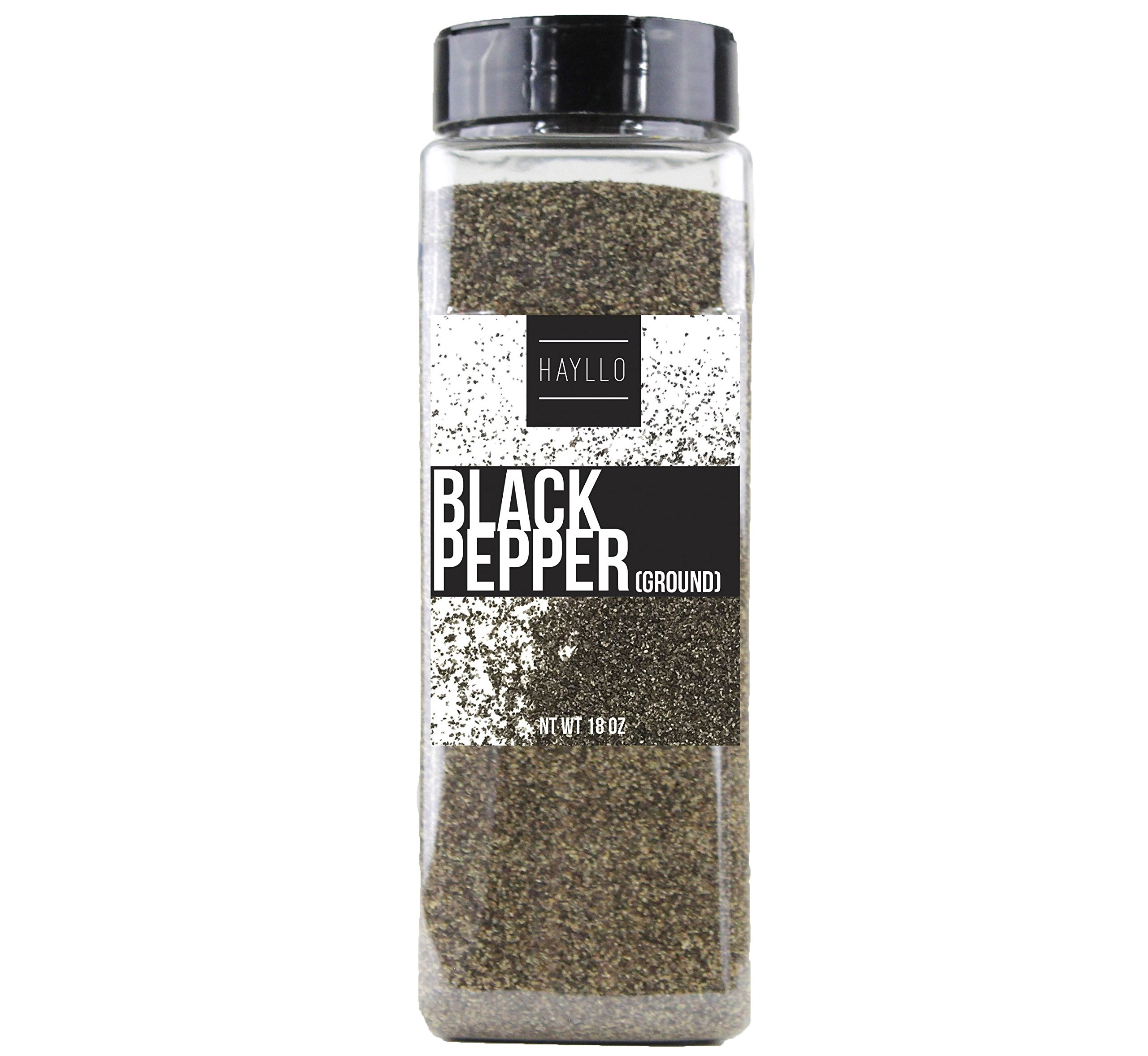 Hayllo Ground Black Pepper , 18 Ounce