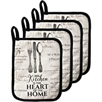 Warome Pot Holders for kitchen ,100% Cotton, Super Value Dual-Function Hot Pads/Oven Mitts, Heat Resistant Coaster…