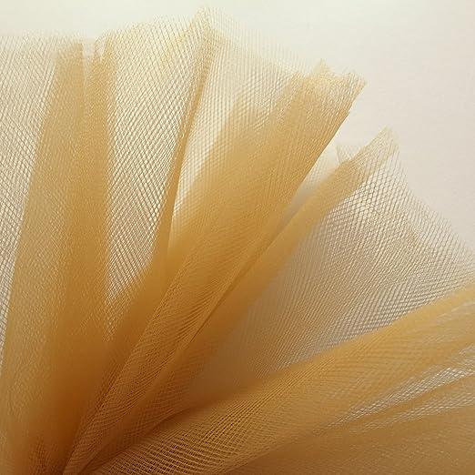 Tela de tul de color marrón dorado de 300 cm de ancho, apta para ...