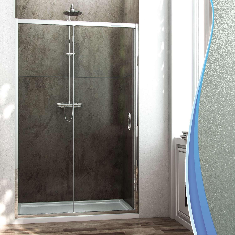 Fosterberg, Kolding - Puerta para ducha con 1 puerta corredera de vidrio (185 cm de altura): Amazon.es: Hogar