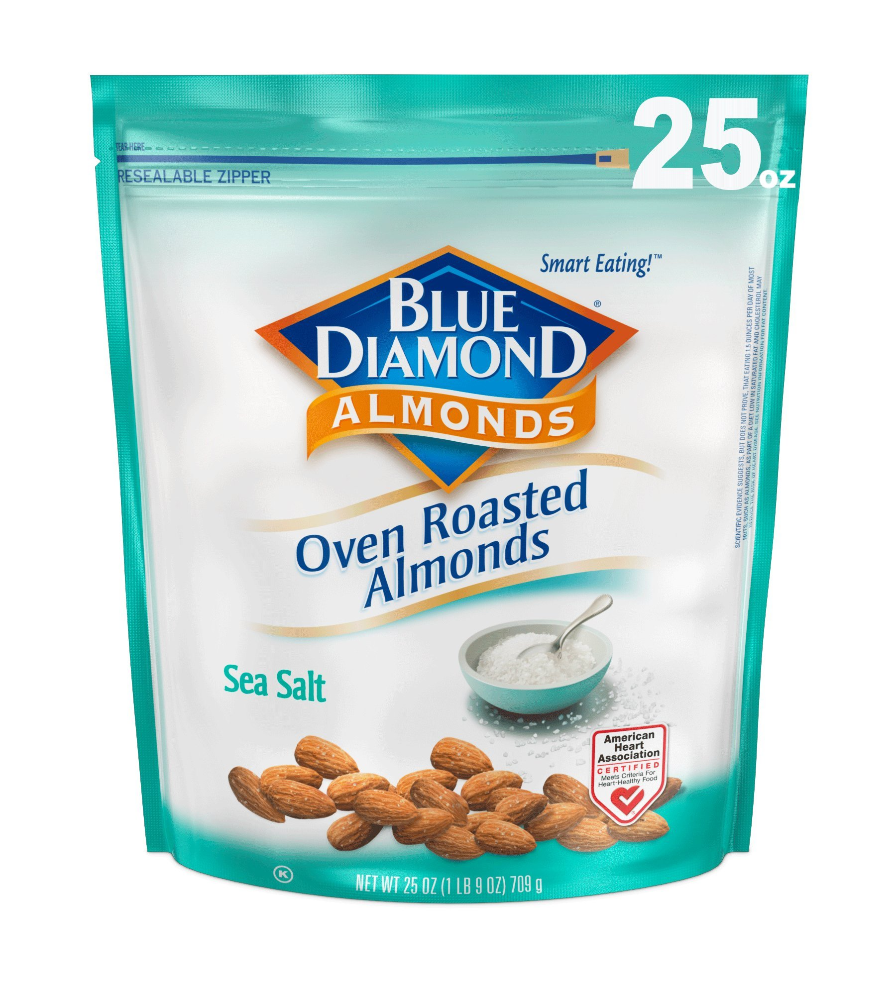 Blue Diamond Oven Roasted Almonds, Sea Salt, 25 Ounce