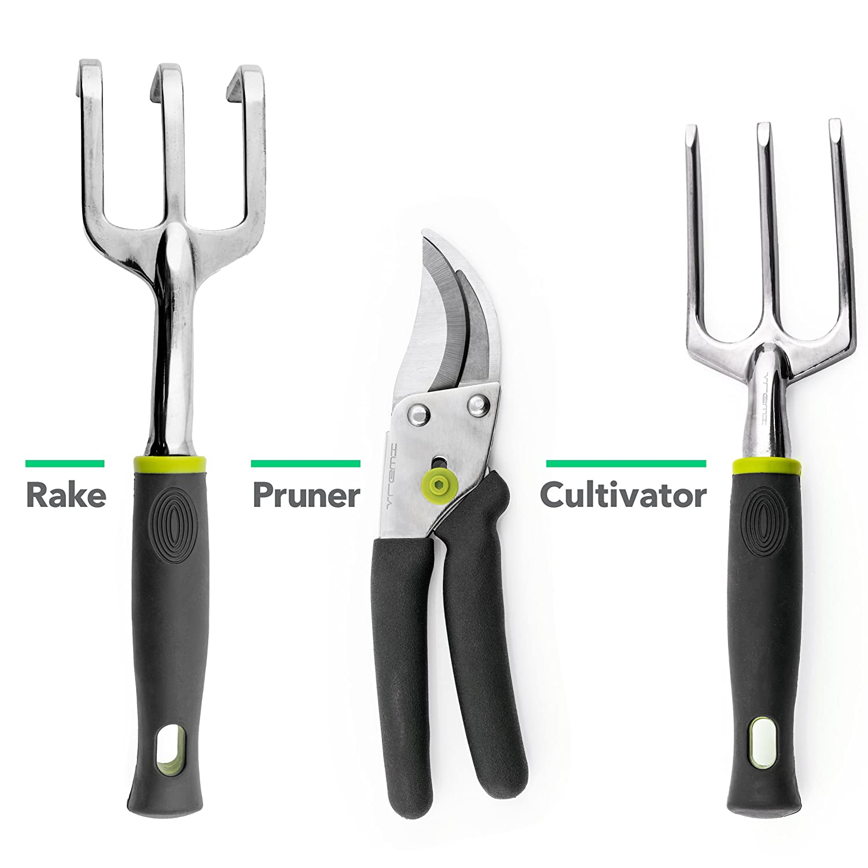 vremi 9 piece garden tools set gardening tools with