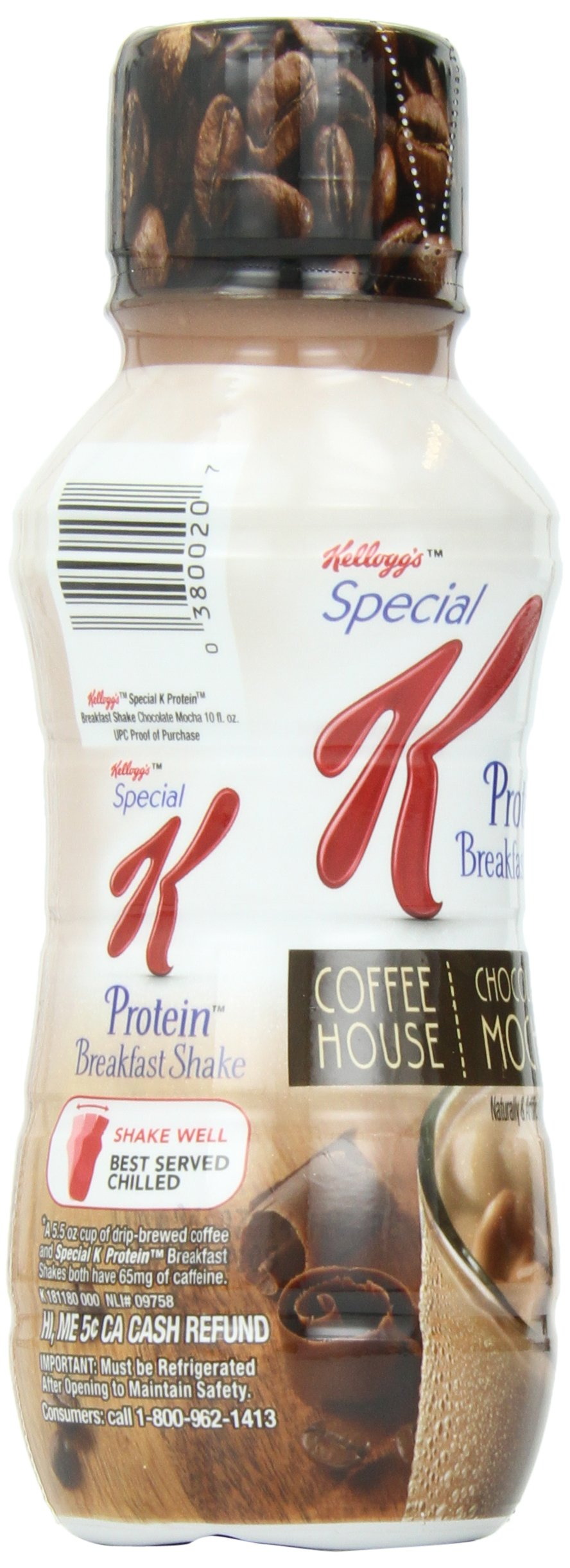 Kellogg's Special K Coffee House Breakfast Shake, Chocolate Mocha, 10 Ounce Bottles (Pack of 24) by Special K