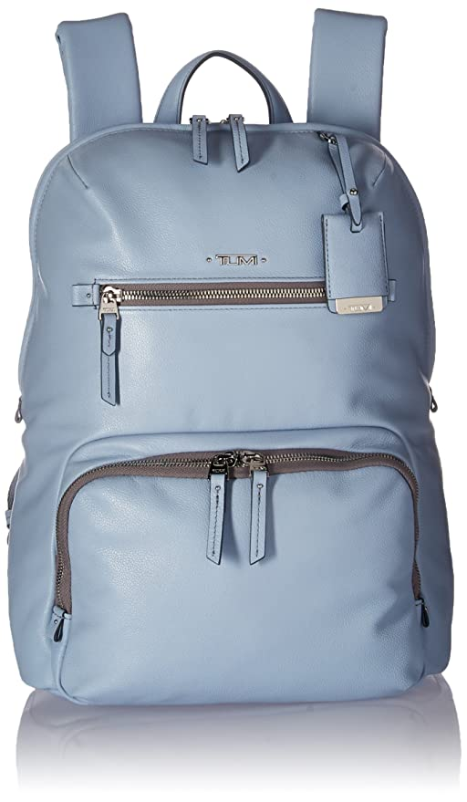 53357218c3 Tumi Women s Voyageur Leather Halle Backpack Light Blue  Amazon.ca ...