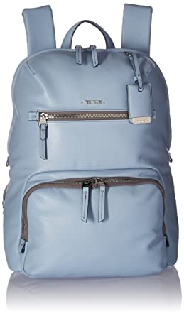 Tumi Women s Voyageur Leather Halle Backpack Light Blue 465386f79808e