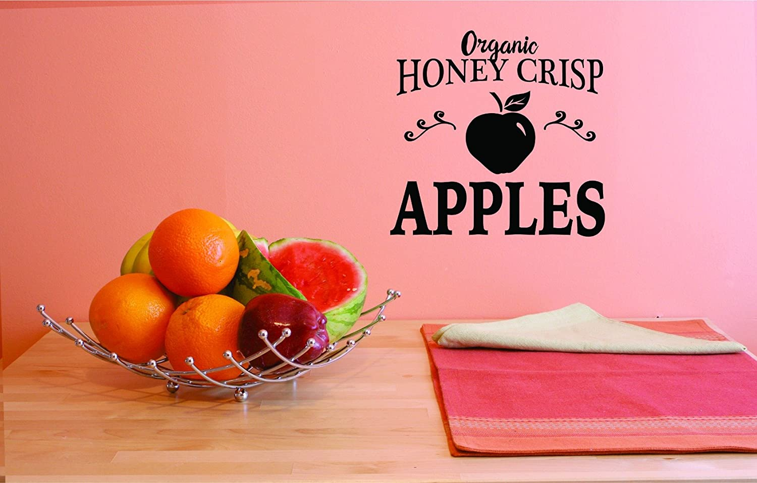 Design with Vinyl JER 1775 3 Hot New Decals Organic Honey Crisp Wall Art Size x 18 Inches Color Black 18 x 18