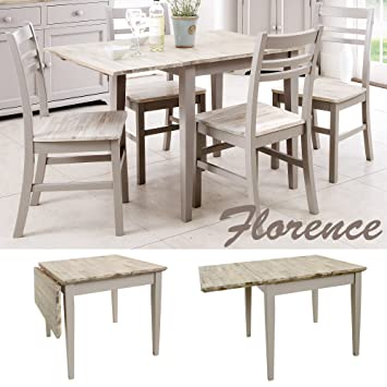 Florence square extended table. Truffle kitchen extendable table