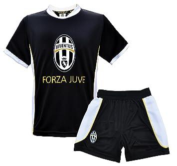 JUVENTUS TURIN - Camiseta y pantalones cortos para niño, diseño de Juventus de Turín Negro