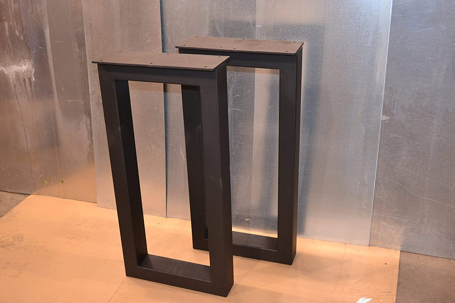 Metal Table Legs, Rectangular Style – Any Size and Color