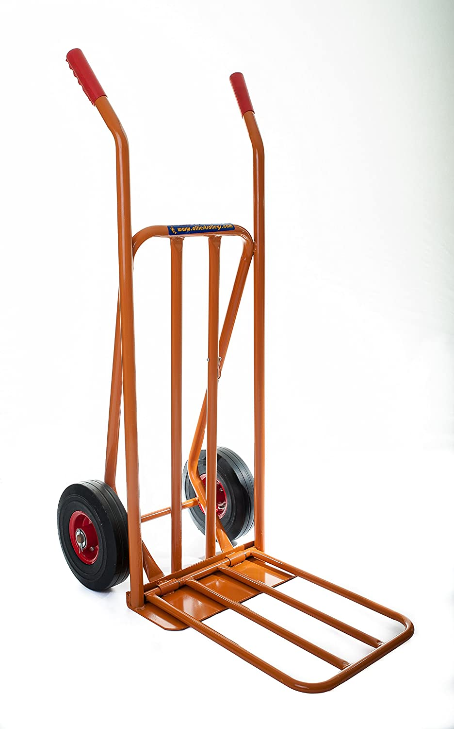 Heavy duty 300Kg capacity sack trolley truck barrow with extendable toe. over 6, 000 sold in UK. OT1001- READ THE REVIEWS! Ollies Trolleys UK