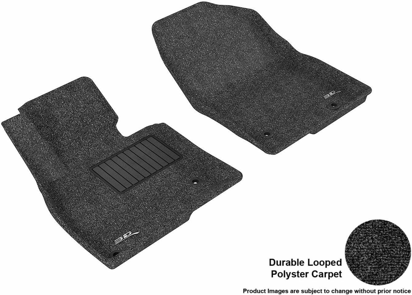 Black L1MZ04012209 Classic Carpet 3D MAXpider Front Row Custom Fit Floor Mat for Select Mazda6 Models