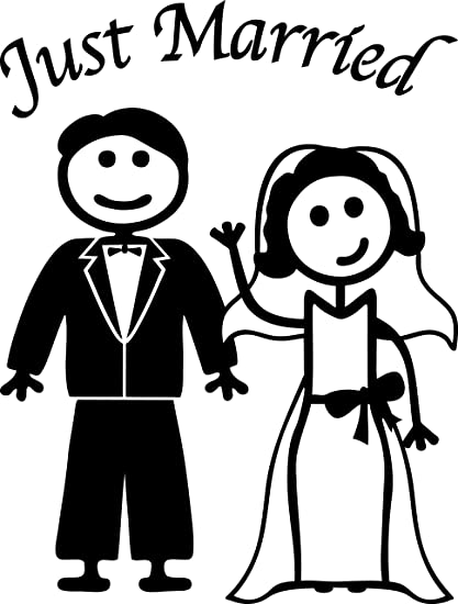 amazon just married man and woman stick people 6 tall white 1950s Food image unavailable