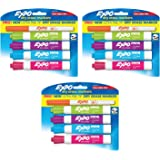Expo Low Odor Dry Erase Markers, Chisel & Ultra-Fine Tips, Assorted Colors, 12 + 3 Bonus Pack