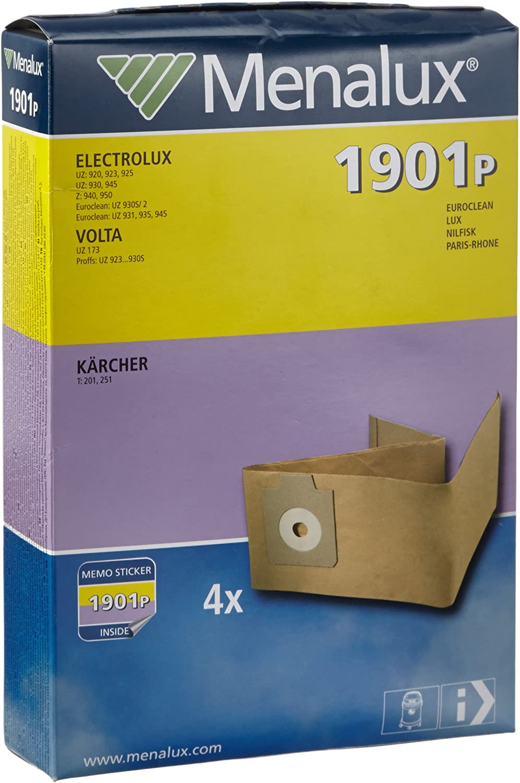 Menalux 1901 P - Bolsas de papel para aspiradoras Electrolux y ...