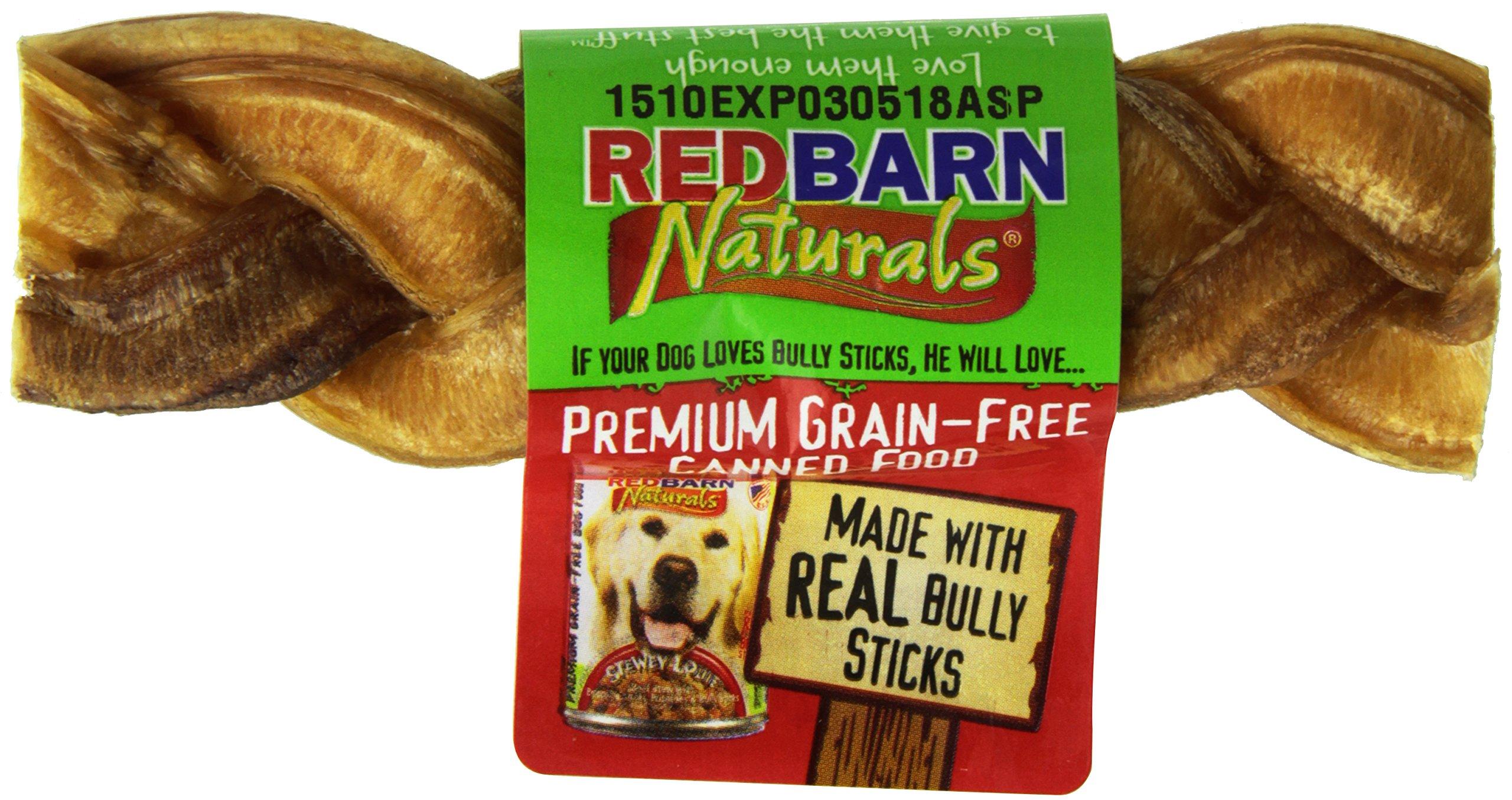 Redbarn Braided Bully Sticks 5'' Dog Treats, 5-in chew, case of 30