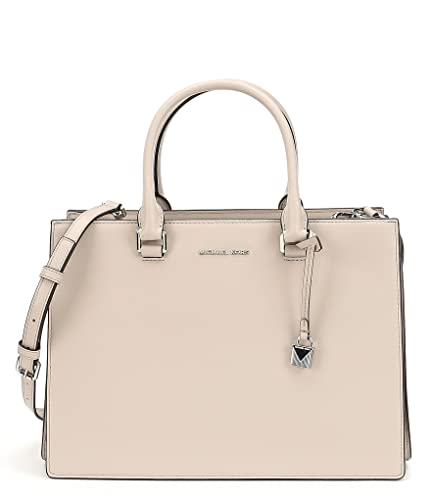22709277f84e Amazon.com  Michael Kors Leather Satchel Medium Sutton Gusset Cement  Handbag Bag New  Shoes