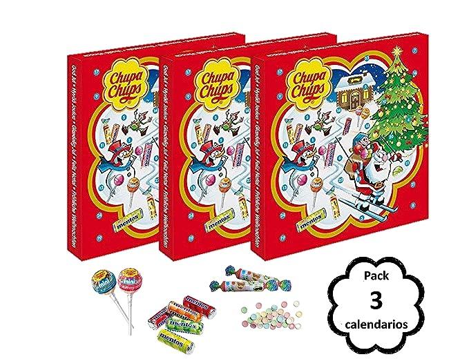 Chupa Chups Calendario de Adviento Mix Caramelos - 3 unidades de 170 gr/ud