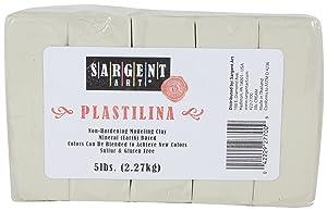Sargent Art Plastilina Modeling Clay, 5-Pound, Cream