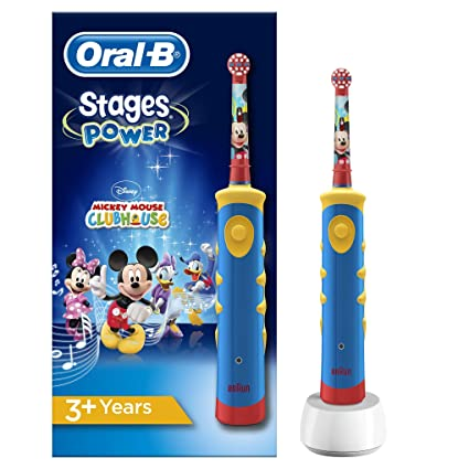 Oral-B Stages Power Kids Cepillo de dientes eléctrico de Mickey Mouse d313b838872f