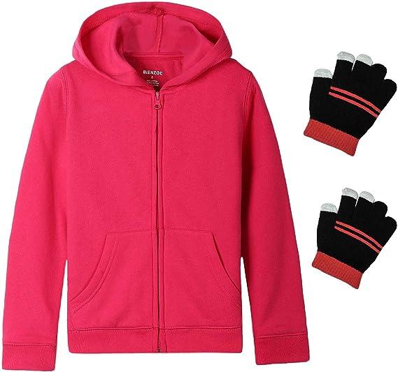 Essentials   Girls Fleece Zip-up Hoodie