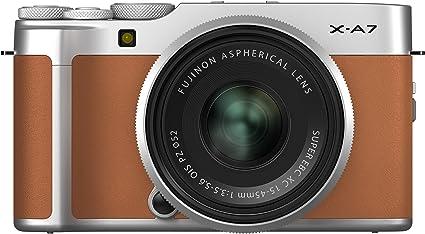 Amazon.com : Fujifilm X-A7 Mirrorless Digital Camera w/XC15-45mm F3.5-5.6 OIS PZ Lens, Camel : Camera & Photo
