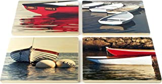 product image for Dinghy Coasters - from Original Painted Photography by Martha Everson - - Set of 4 Coasters