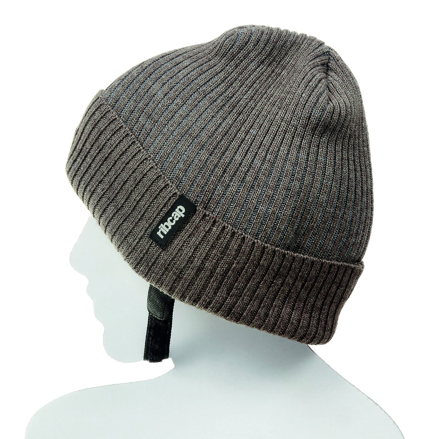 The All New Premium Original Ribcap - Iggy Beanie Cap (Large, Brown) by Ribcap
