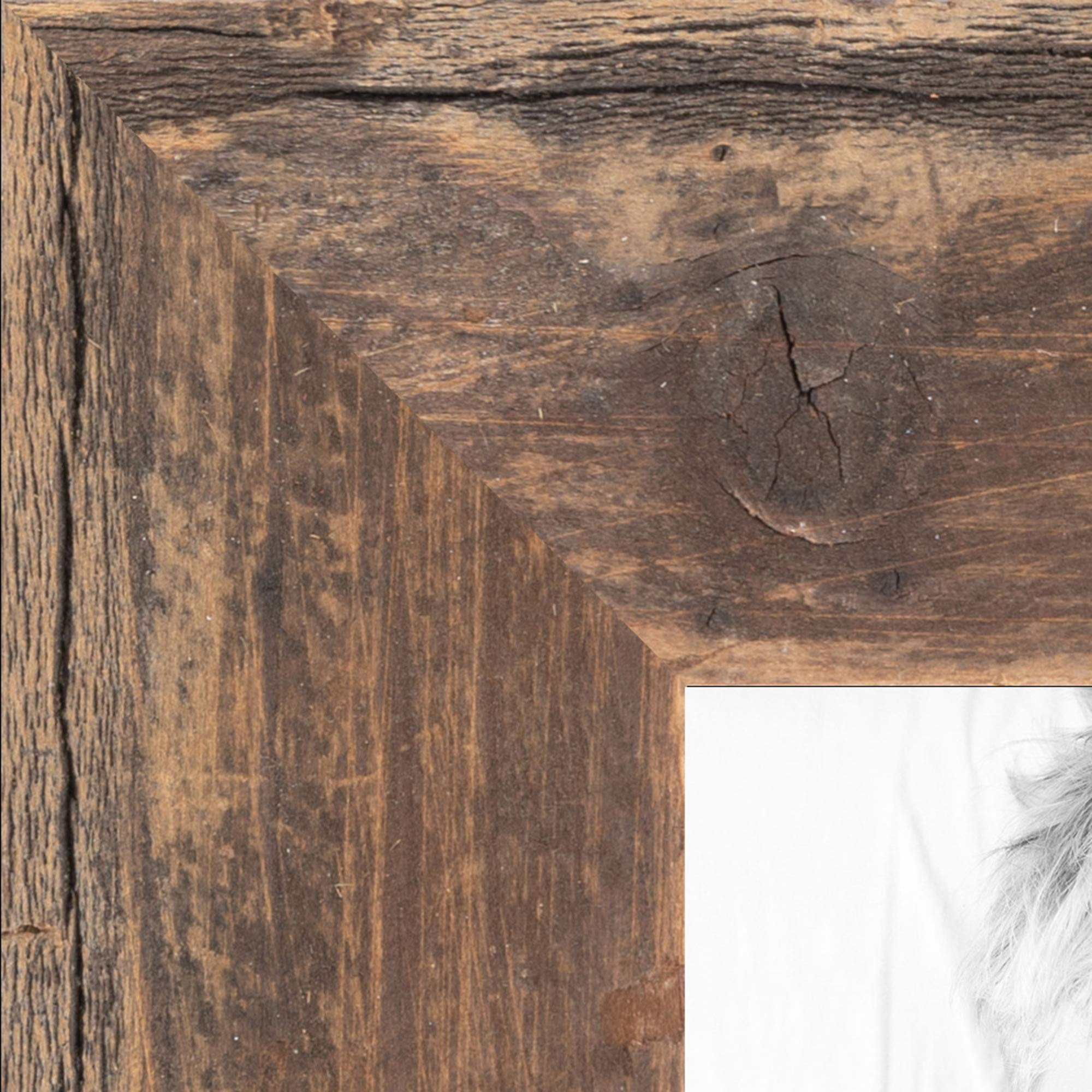 ArtToFrames 16x20 inch Real Reclaimed Brown Barnwood 1.5 Inch Wood Picture Frame, WOMRFB-150-TOB-16x20 by ArtToFrames