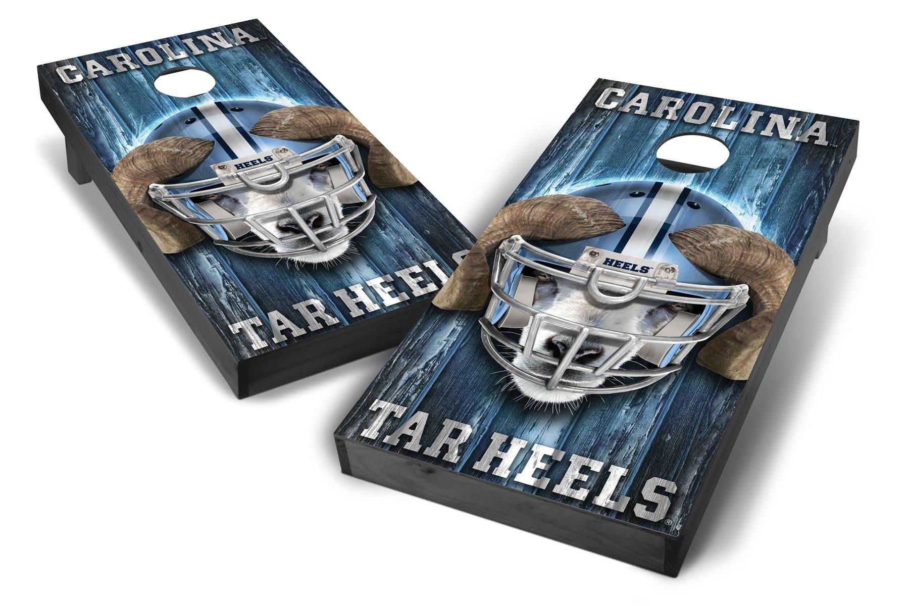 PROLINE NCAA College North Carolina Tar Heels 2'x4' Cornhole Board Set - Mascot Design, Grey