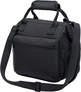 Insulated Leakproof Lunch Bag Lunch Box for Adults, Stylish Cooler Bag for Office Picnic with YKK zippers and Adjustable Shoulder Straps