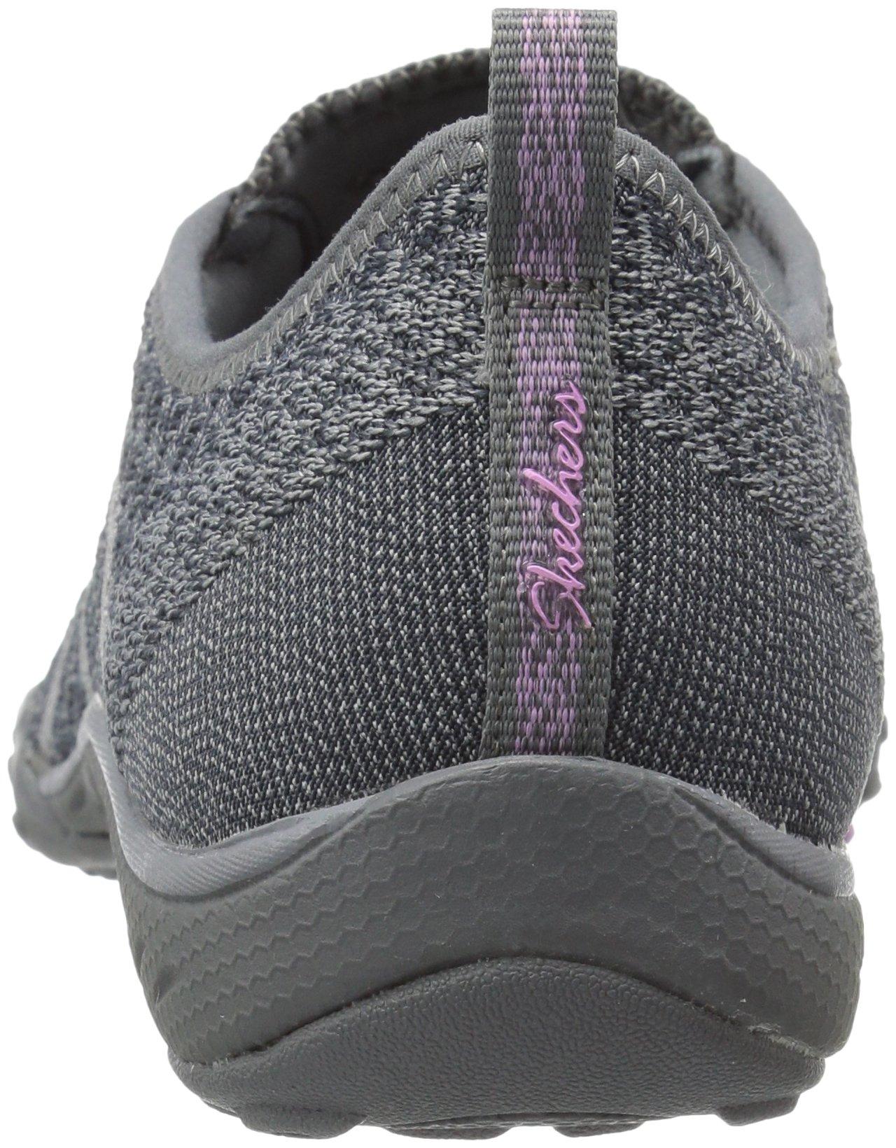 Skechers Sport Women's Breathe Easy Fortune Fashion Sneaker,Charcoal Knit,5 M US by Skechers (Image #2)
