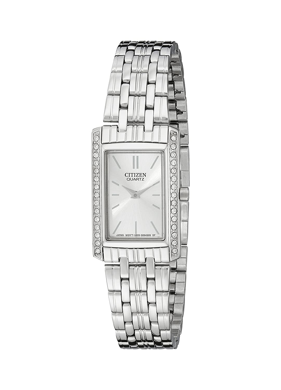 bezel dkny women quartz steel stainless pin crystal watches
