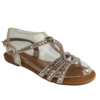 Schuhtraum Damen Sandalen Sandaletten Glitzer Zehentrenner ST33 Riemchen   Amazon.de  Schuhe   Handtaschen 5de9cccd58