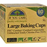 If you care Unbleached Large Baking Cups, 60-Count Boxes, Brown (24 Pack)