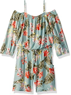 162bf07a2b78 Amazon.com  Amy Byer Girls  Big Sweet Off The Shoulder Romper  Clothing