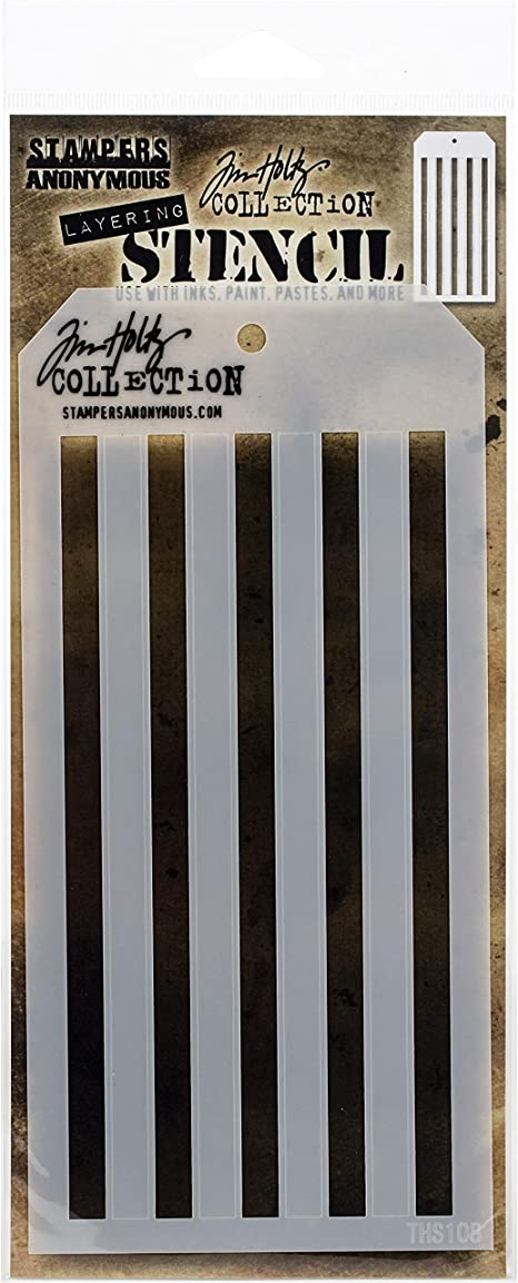 """Tim Holtz Layered Stencil 4.125/""""x8.5/""""-shifter Mint"""