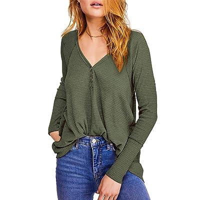 BONESUN Women's Long Sleeve Casual Loose Blouse Shirts Chiffon Patchwork Tunics Tops at Amazon Women's Clothing store