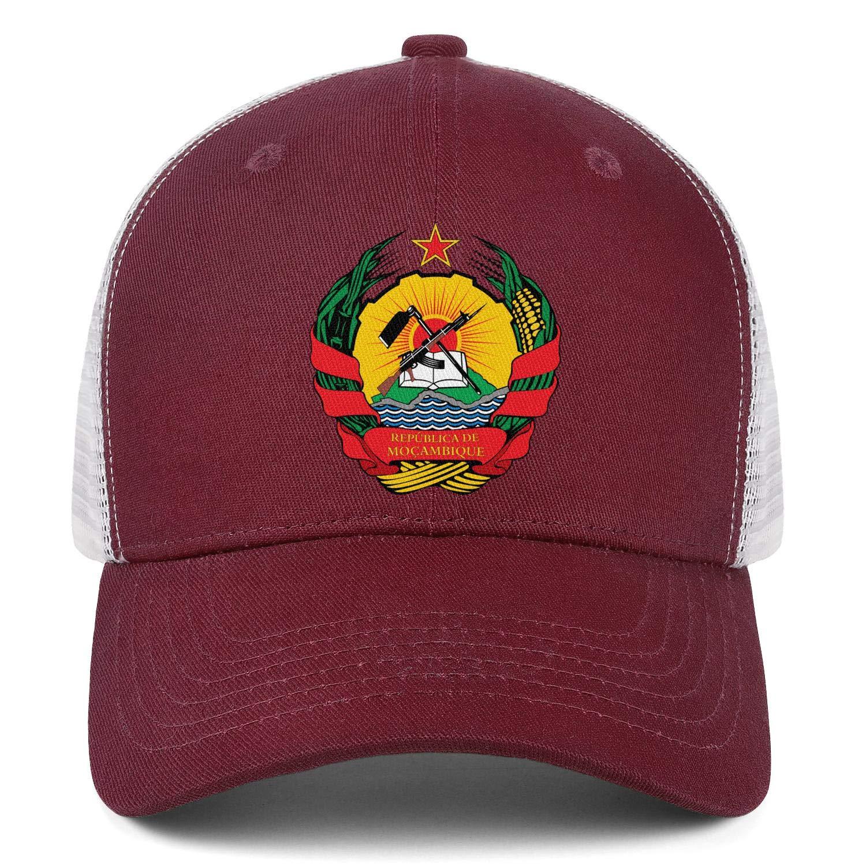 Mozambique Emblem of Republica Seal Mens Trucker Curved Casual Flexfit Snapback Cap
