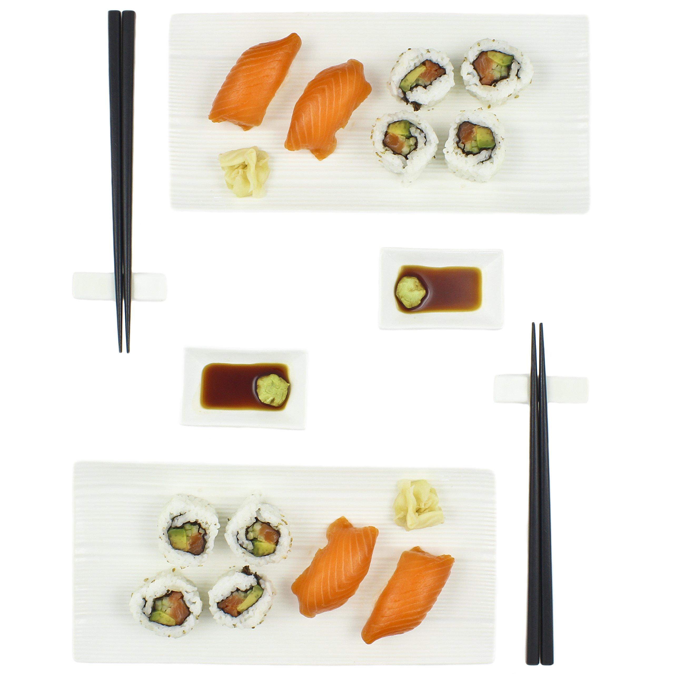 Zoie + Chloe Ceramic Sushi Gift Set For Two